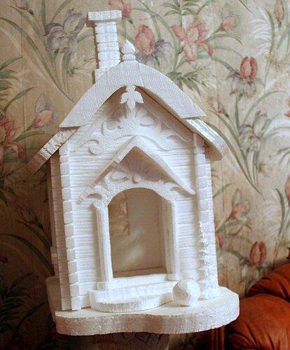 Как сделать домик из пенопласта своими руками мастер класс