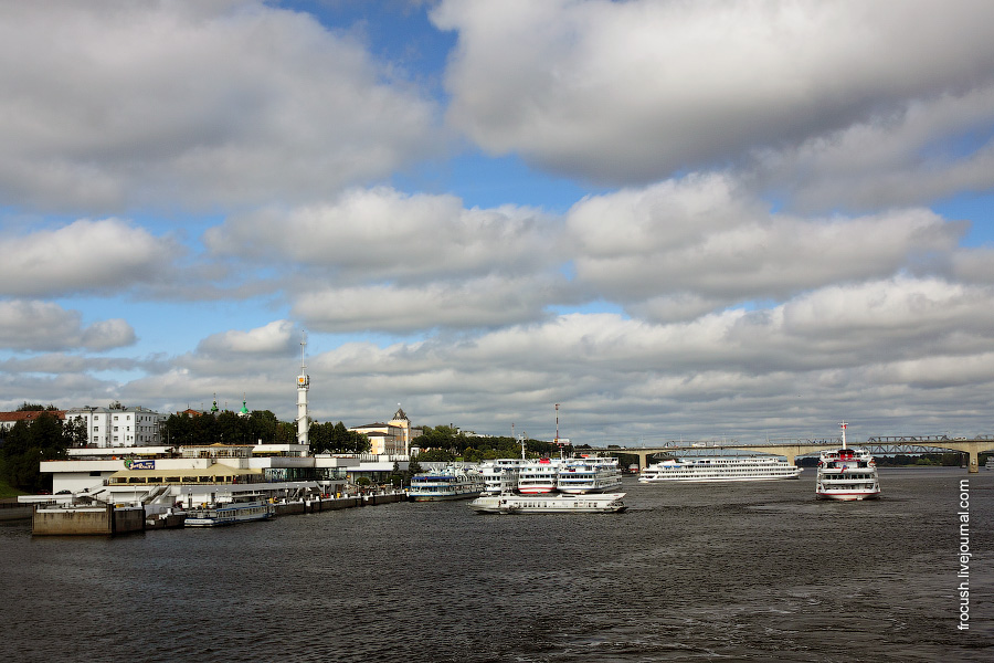 Речной порт в Ярославле