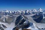 вид на север с высоты  ~ 6400, виден Хан-Тенгри и хр. Тенгри Таг