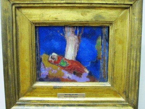 Одилон Редон. Женщина, спящая под деревом