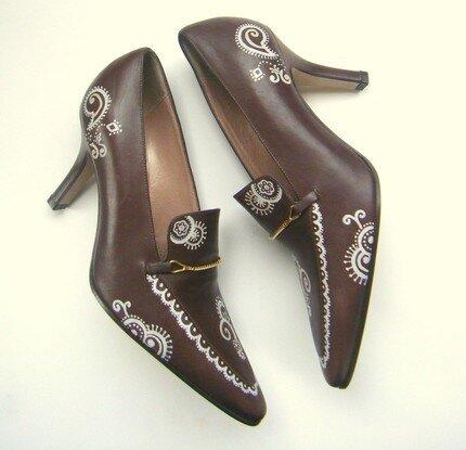 Роспись обуви своими руками