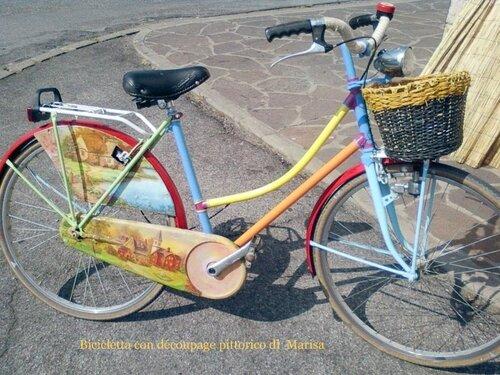 Декупаж велосипеда