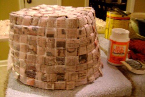 Плетение корзинки за 2 вечера из любой бумаги мастер 28
