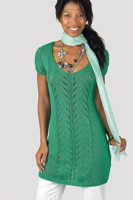 Вязание платья спицами или