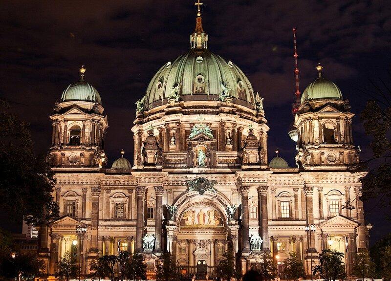 фотографии ночной берлин, германия отчёт, германия фотоотчёт, Берлинский Дом