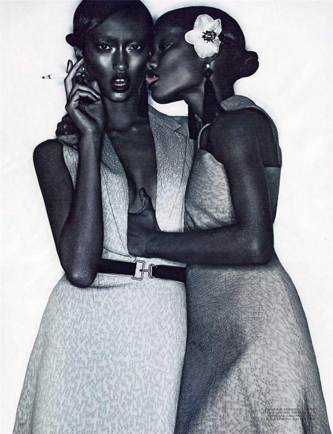 модели Мелоди Монрос и Анаис Мали / Melodie Monrose and Anais Mali, фотограф Solve Sundsbo