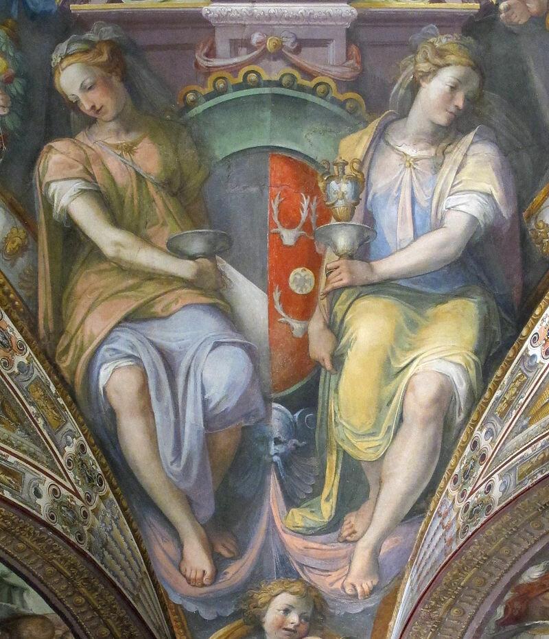 Palazzo_capponi-vettori,_salone_poccetti,_pennacchio_con_stemma_capponi_soderini,_2.JPG