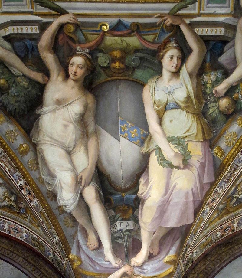Palazzo_capponi-vettori,_salone_poccetti,_pennacchio_con_stemma_capponi_vettori,_2.JPG