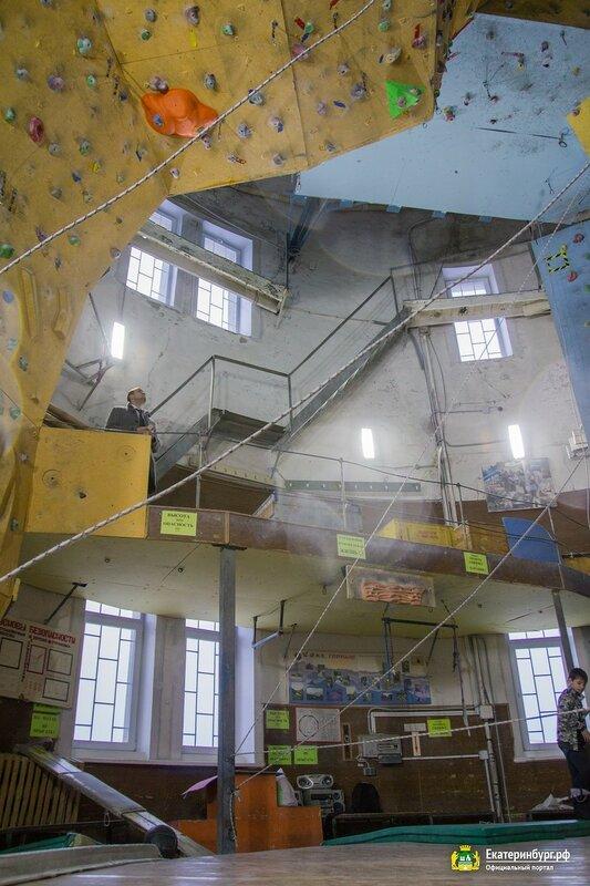 Водонапорная башня в Екатеринбурге, вид изнутри