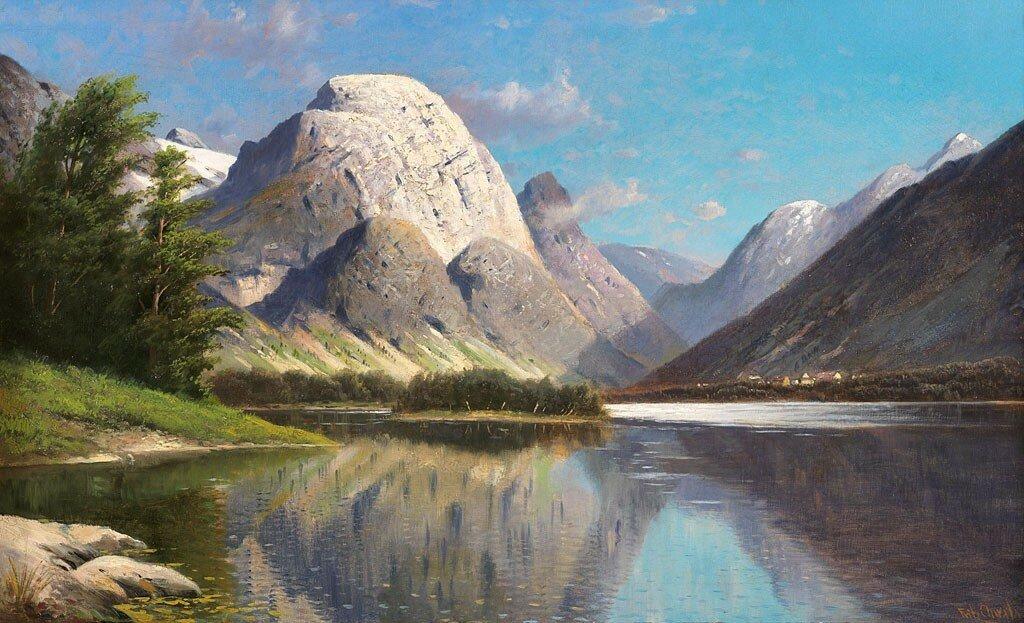Fritz CHWALA -  Mountain Landscape  - 90022-121.jpg
