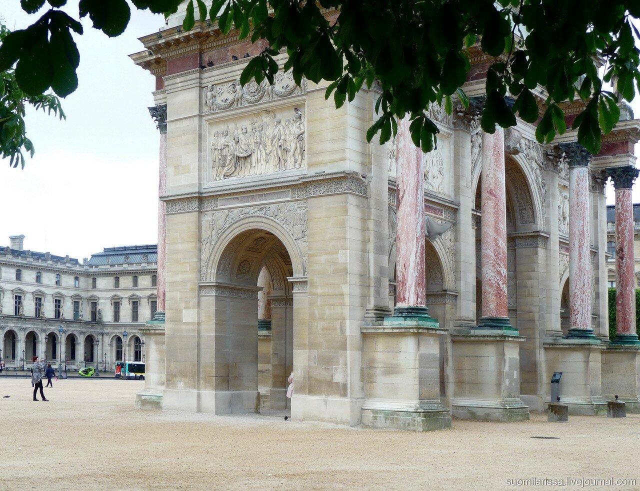 Триумфальная арка на пл. Каррузель.