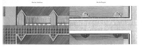 Мост в идеальном городе Шо, архитектор Клод Леду, план