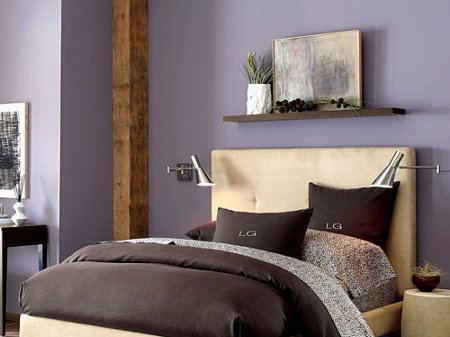 The color lavender interior