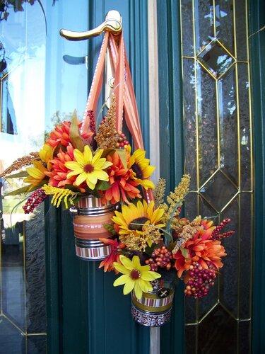 новогоднее украшение цветами