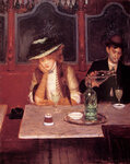 """The Drinkers1908Oil on panel36.8 x 45.7 cm(14.49"""" x 17.99"""")Private collection"""