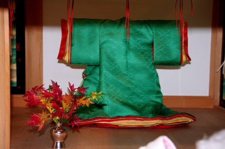 Цветовое сочетание листьев японского клена момиджи.
