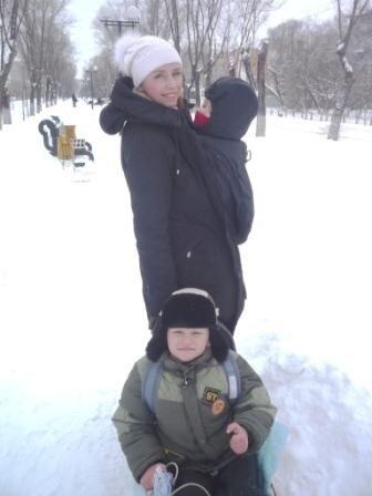 Гуляем зимой под слинговставкой