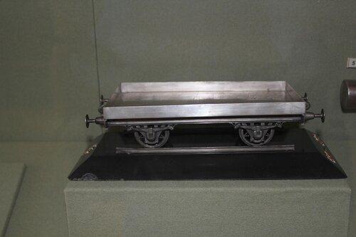 Модель железнодорожной платформы на колёсах