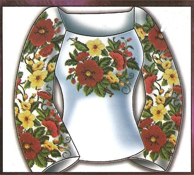 """Любителям вишиванки пропоную схему гарної жіночої сорочки  """"Розкіш """"."""