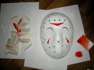 Как сделать страшную маску из бумаги для мальчиков 4