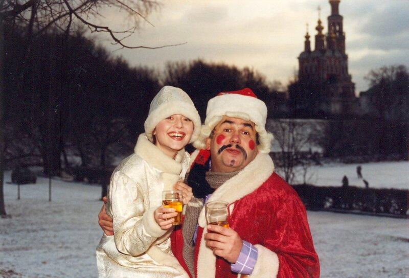 Стас Садальский и Анжелика Варум. Новодевичий монастырь, 1995 год.