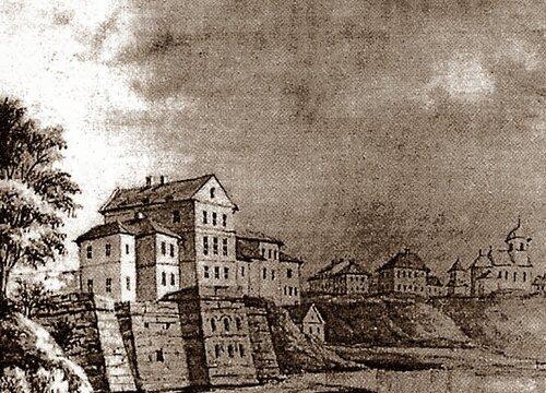 Тернопільський замок. Акварель Наполеона Орди.1870-ті