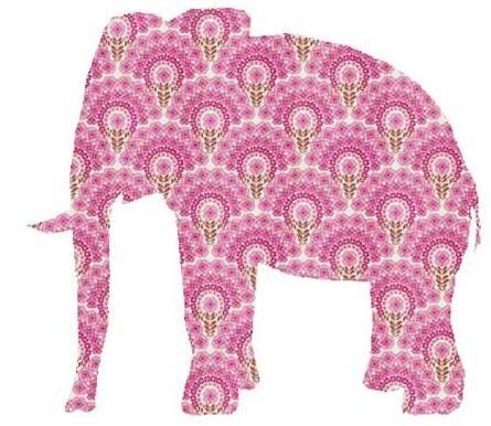 Трафареты слонов