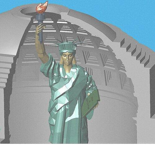 Пантеон и Статуя свободы.