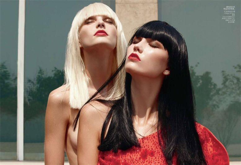 модели Karlie Kloss и Patricia van der Vliet / Карли Клосс и Патрисия ван дер Влиет, фотограф Max Vadukul