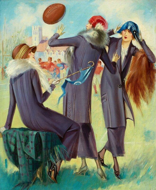 American beauties, vintage illustrations