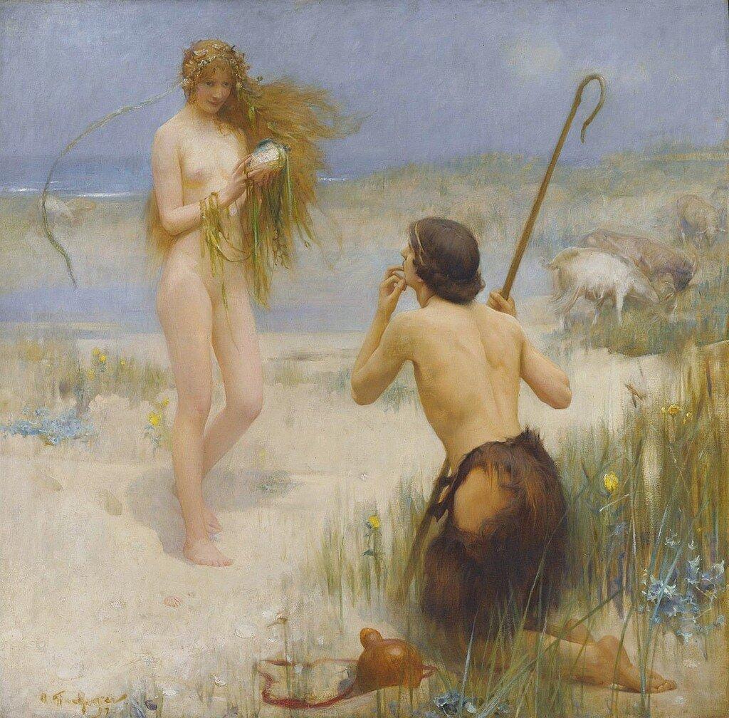 """Arthur Hacker (1858-1919), """"The Sea Maiden"""""""