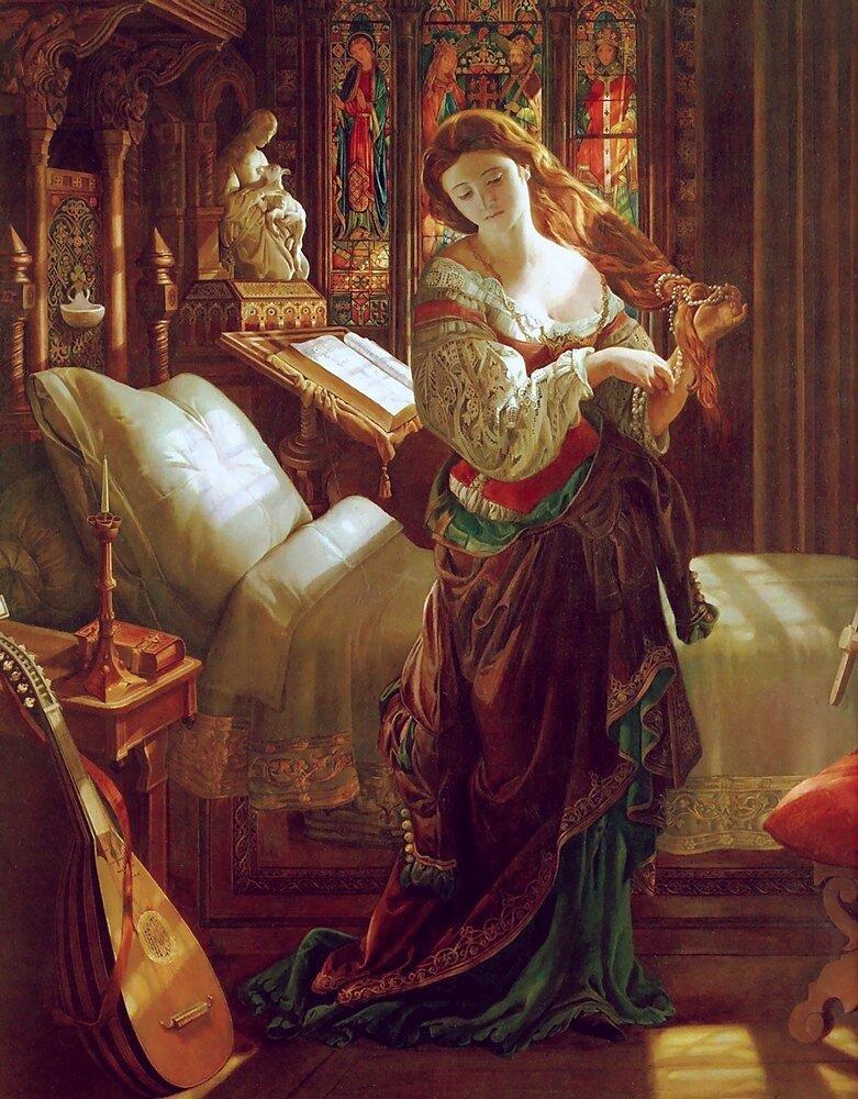 Daniel MACLISE (1806-1870) Madeline after Prayer