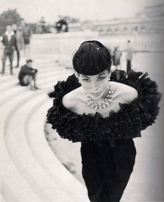 Walde Huth.Dress by Dior Paris-1955