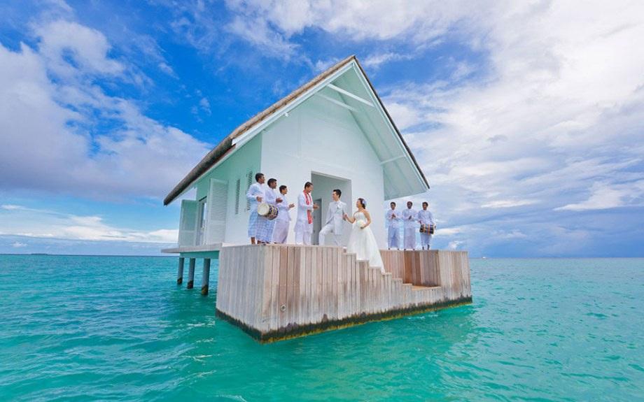 Удивительный домик для бракосочетаний