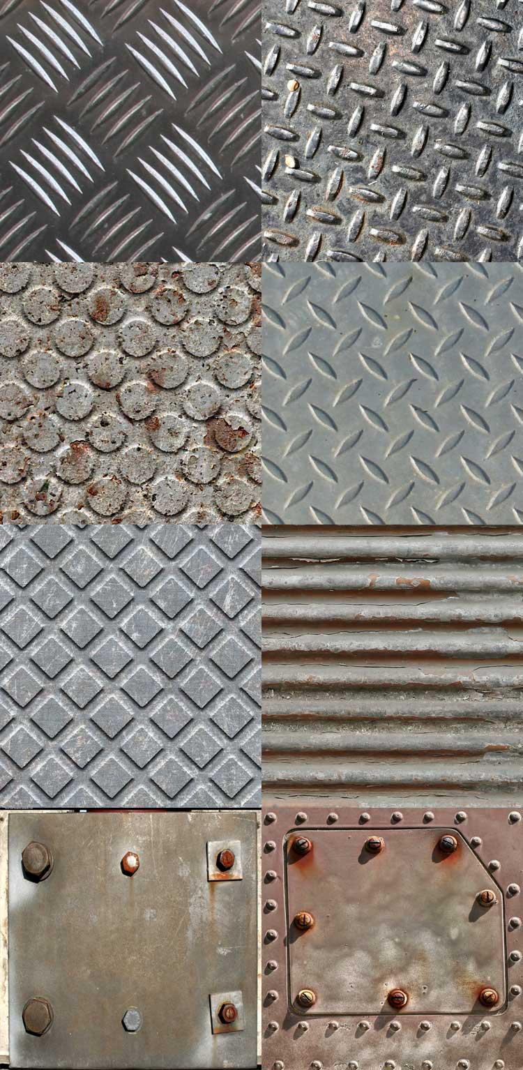 Текстуры металла, рифление