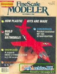 Журнал FineScale Modeler December 1988 (Vol. 6, No. 6).