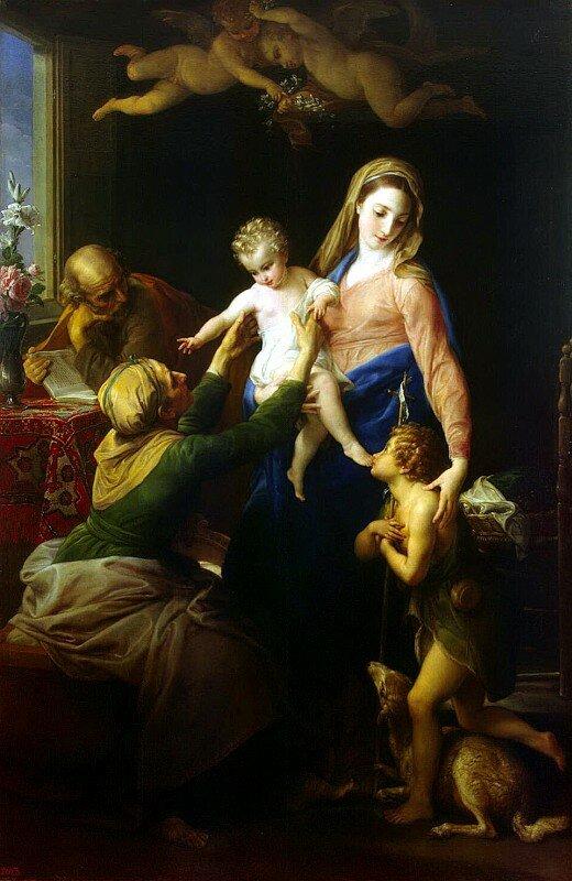 Батони Помпео - Святое семейство со Св. Елизаветой и Иоанном Крестителем