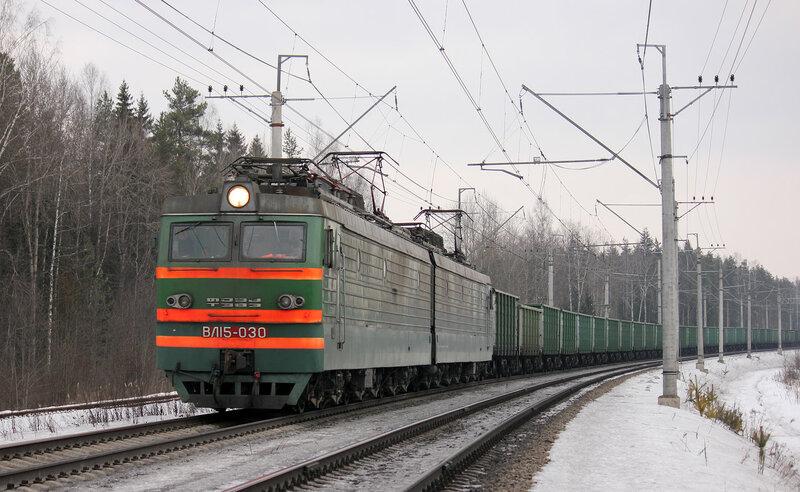 ВЛ15-030 на перегоне Мга - Войтоловка
