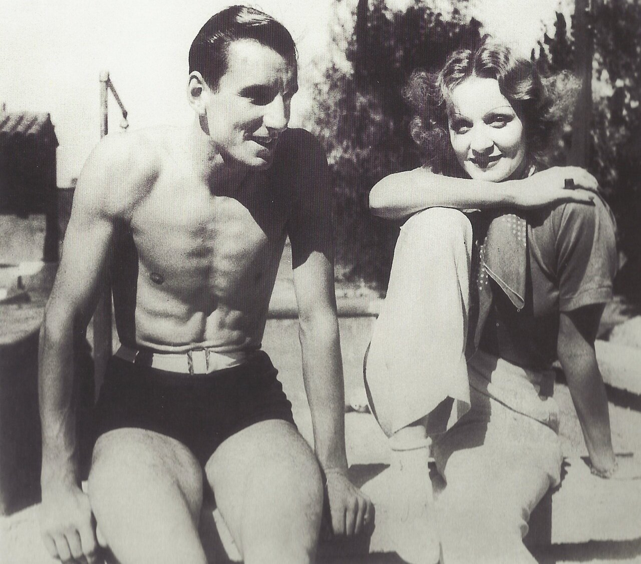 1930. Теннисист Фред Перри с Марлен Дитрих, Голливуд