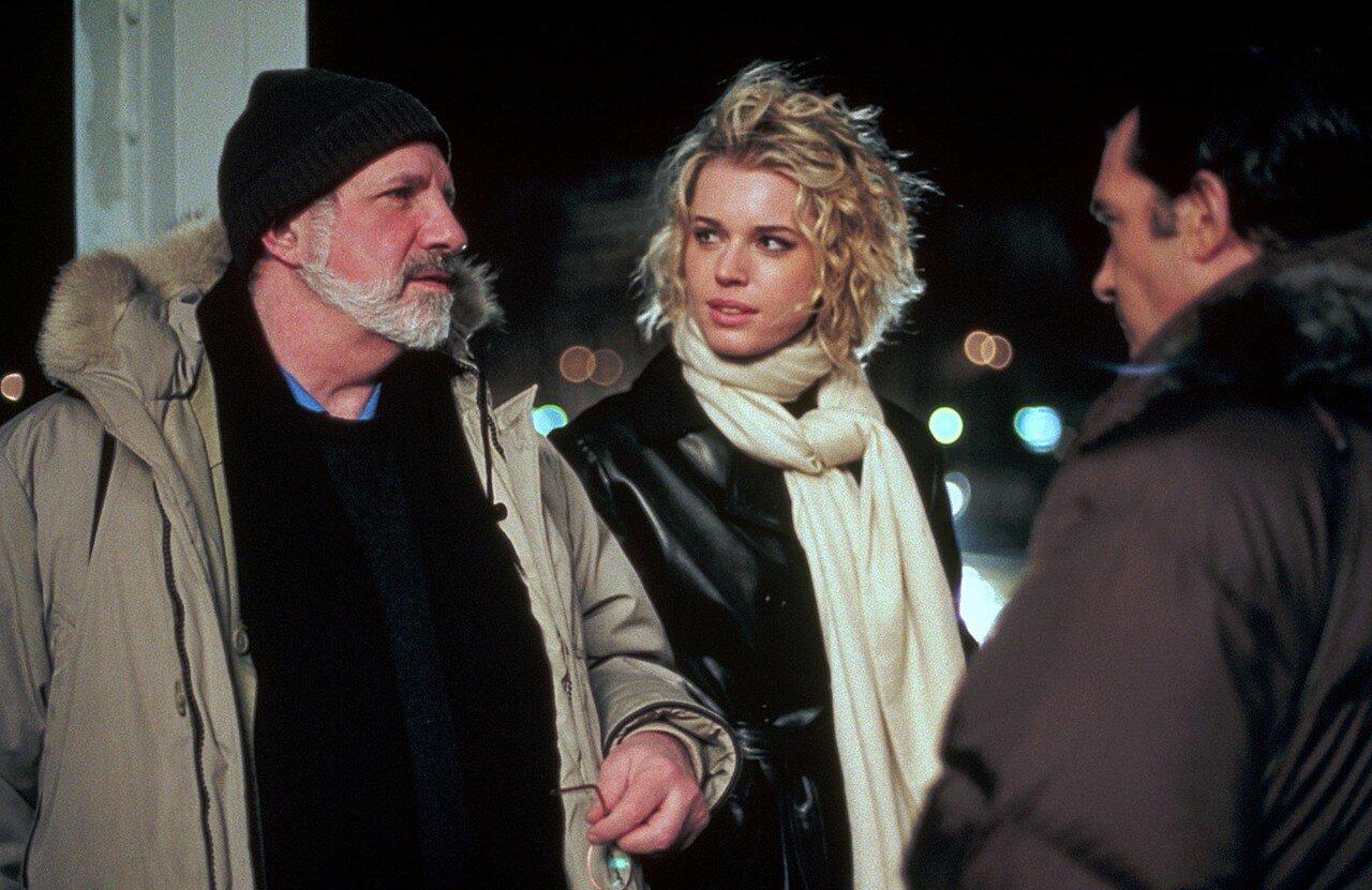 2002. Ребекка Ромейн и Брайан Де Пальма на съемках фильма «Роковая женщина»