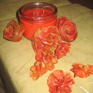 декор свечи цветами мастер-класс