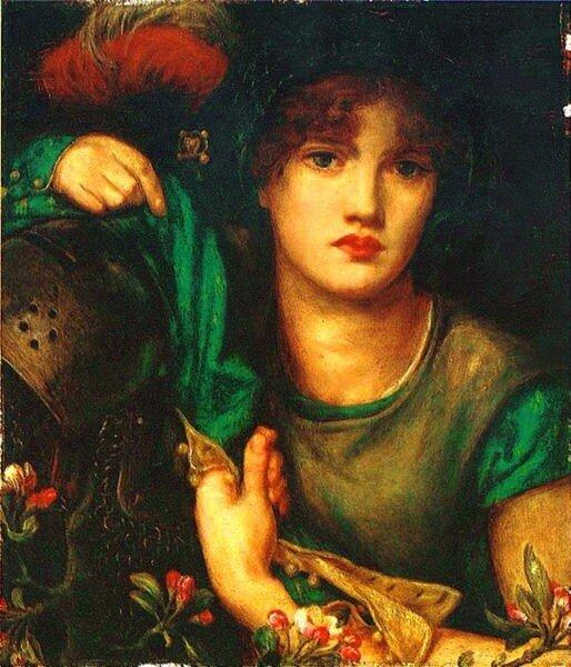 «My Lady Greensleeves» Данте Россетти, 1864 год