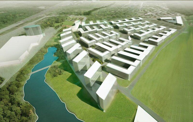 проект застройки участка малоэтажной селитебной территории в Подмосковье.