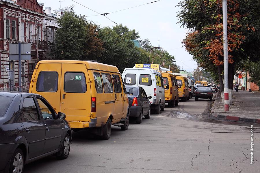 Автомобильная пробка в Ульяновске