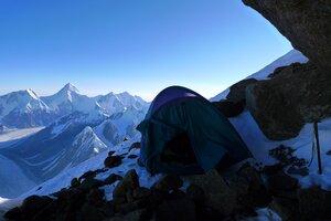 моя палатка на 6400 под Победой