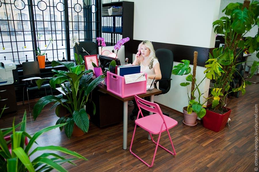 Блондинка в офисе зарегистрировался
