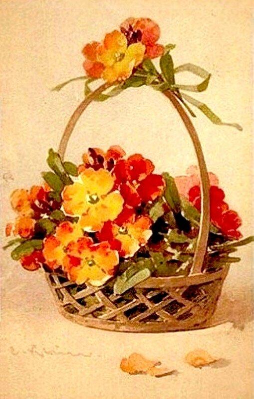 К. Кляйн. 163. Цветы в корзине.