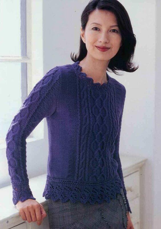 вязание нарядного свитера кофты - Сумки.