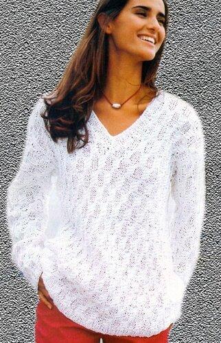 Как вязать женский свитер схемы