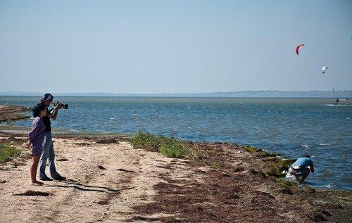 Кайтсерфинг в Анапе, ст.Благовещенская 04.09.2010